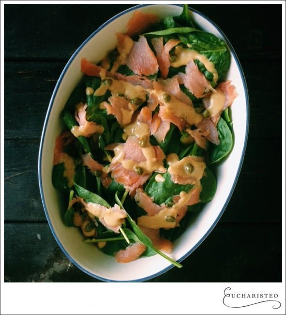 salmon salad - Eucharisteo.com